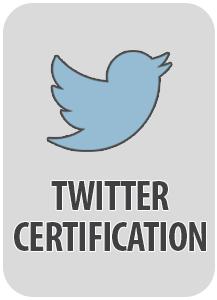 Twitter certification