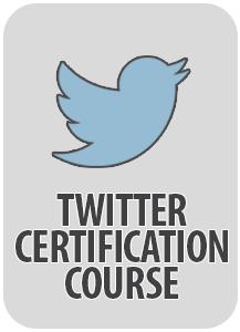 social media twitter certification
